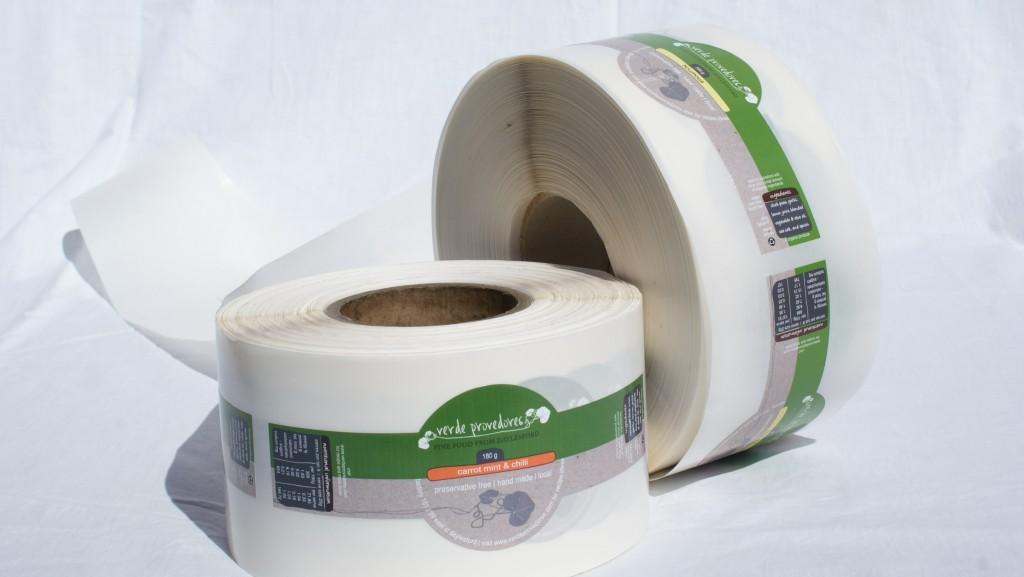 Roll of Tibla labels